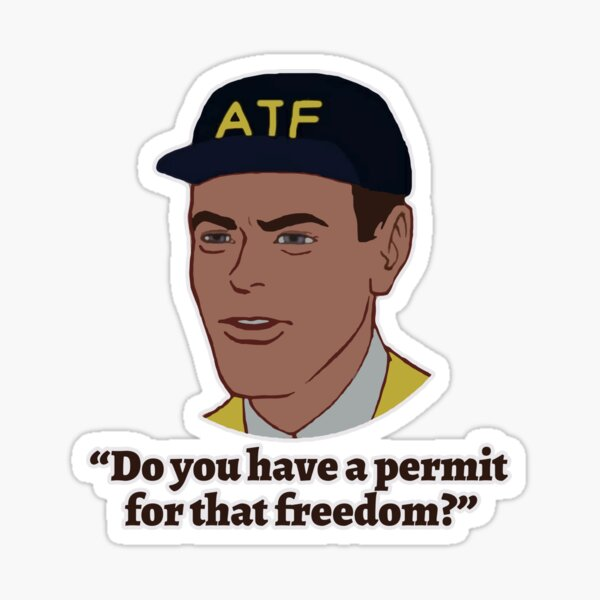 Permit for Freedom Sticker