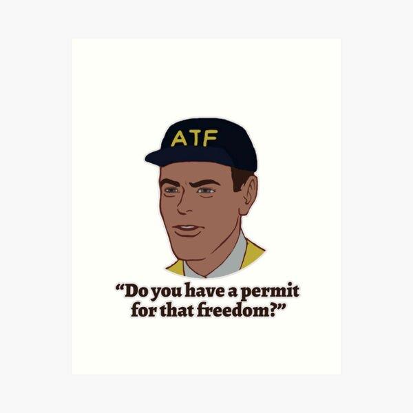 Permit for Freedom Art Print