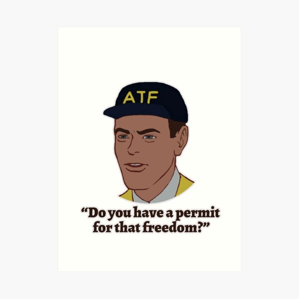 Permit for Freedom Art Print