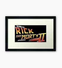 Rick and Morty Season 2 - BTTF Logo Framed Print