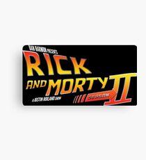 Rick and Morty Season 2 - BTTF Logo Canvas Print