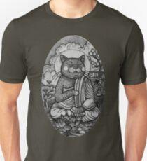 Camiseta unisex Gato budista en posición de loto
