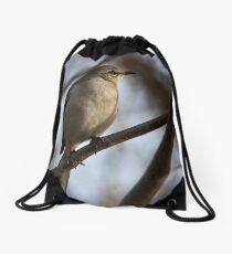 Bird on tree Drawstring Bag