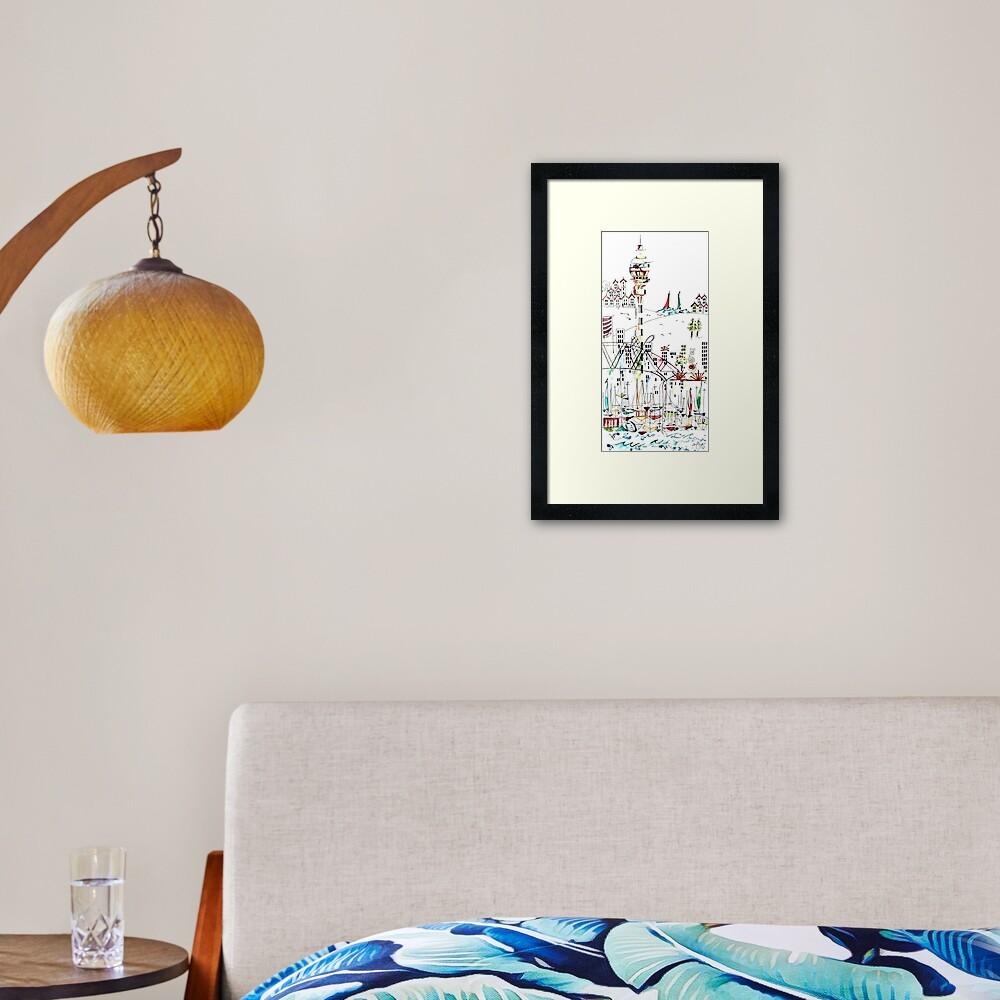 Auckland Sky Tower Framed Art Print