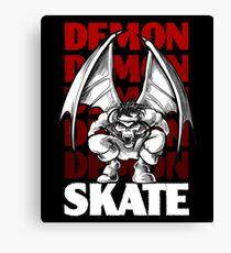 Skull Demon Skate, Skateboard Design Canvas Print