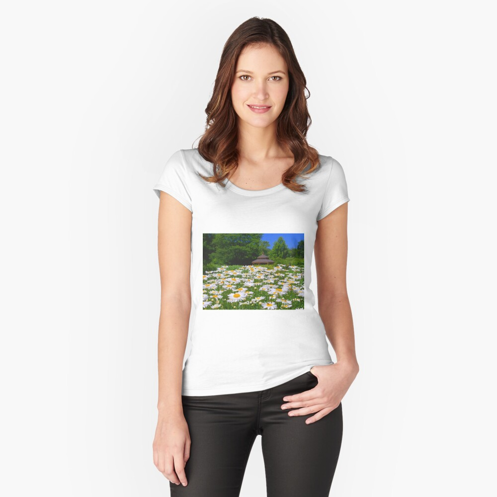 Pushing Up Daisies Fitted Scoop T-Shirt