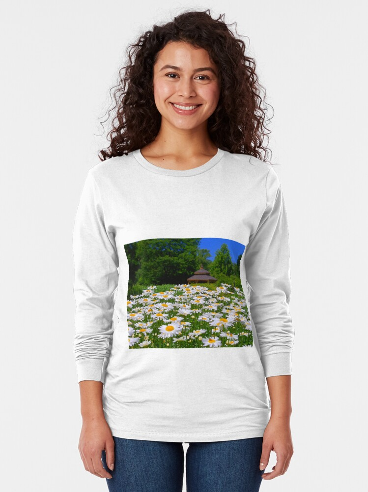 Alternate view of Pushing Up Daisies Long Sleeve T-Shirt