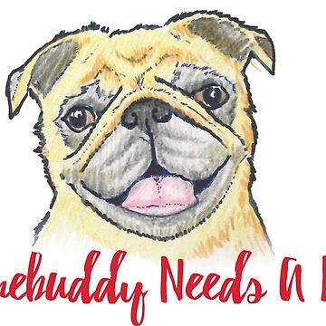 Somebuddy Needs A Hug - Pug by kstrohf