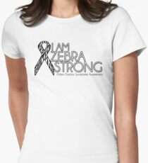 Zebra Strong- Ehlers Danlos Syndrome Awareness Women's Fitted T-Shirt