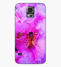 Shiny Bee Wings Soft Pink Flowers Painting Case/Skin for Samsung Galaxy
