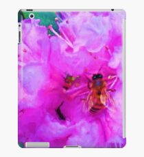 Shiny Bee Wings Soft Pink Flowers Painting iPad Case/Skin