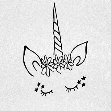 Unicorn Head on Silver by Jess Cargill by jesscargill