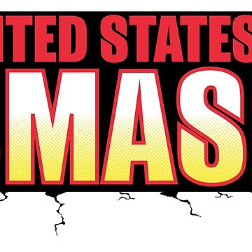 UNITED STATES OF SMASH - All Might Red/Yellow logo by FuzzyDesigns