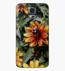 Fat Bumblebee Crisp Orange Zinnias Painting Case/Skin for Samsung Galaxy