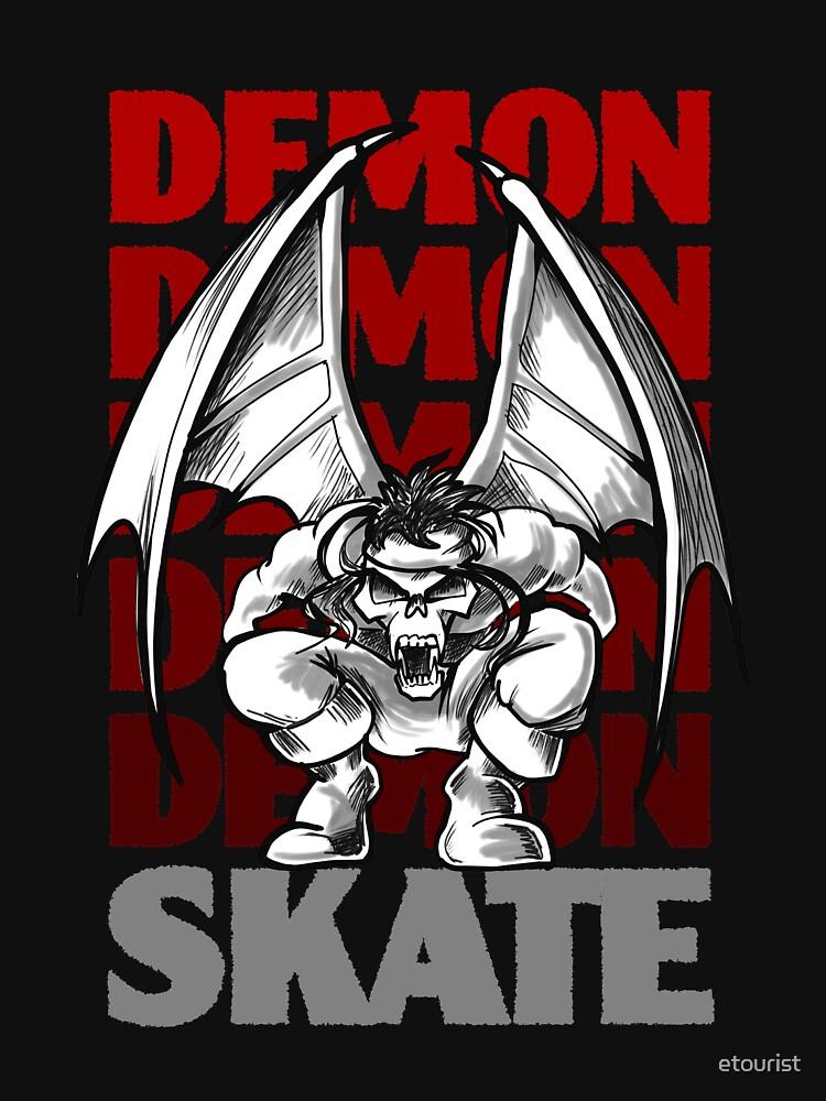 Skull Demon Skate, Skateboard Design by etourist