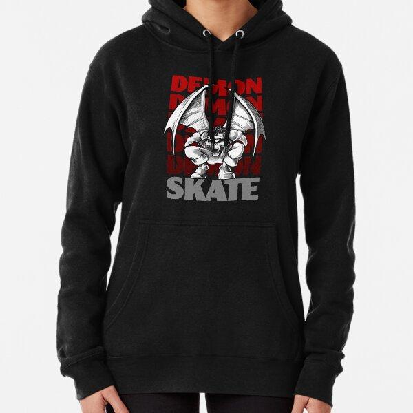Skull Demon Skate, Skateboard Design Pullover Hoodie
