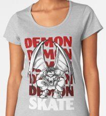 Skull Demon Skate, Skateboard Design Women's Premium T-Shirt
