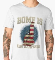 Home is New Hampshire USA US map gift unique fans Proud Strong Support Men's Premium T-Shirt