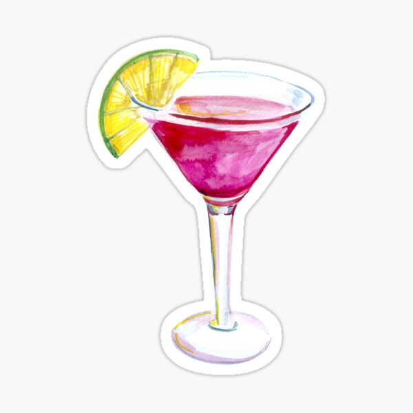 cosmopolitan cocktail Sticker