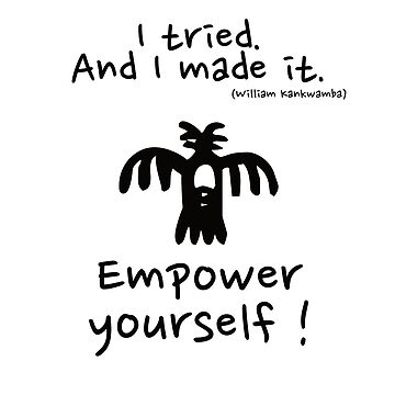Empower Yourself ! (all black) by chruezness