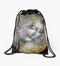 The Lady of Shallot Drawstring Bag