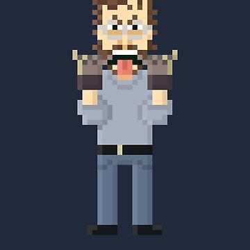 Matt Hooper V2- Jaws Pixel Art by Gwendal