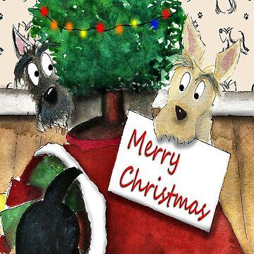 Scottie Dogs ' Merry Christmas' by archyscottie