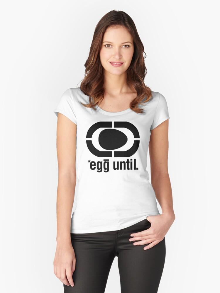 egg unltd Women's Fitted Scoop T-Shirt Front