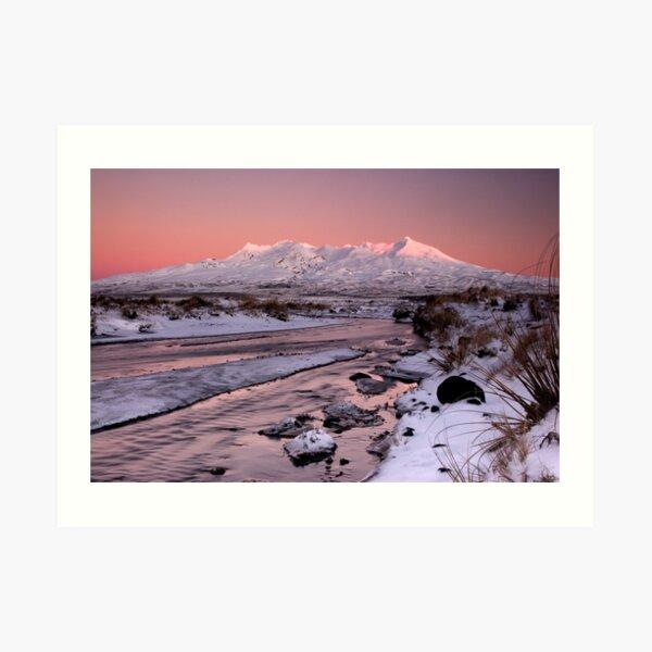 Mt Ruapehu, Sunrise. Art Print