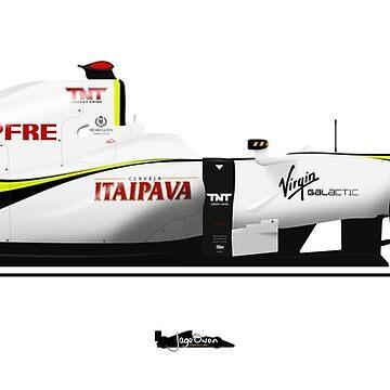 Formula 1 - Jenson Button - Brawn BGP001 by JageOwen