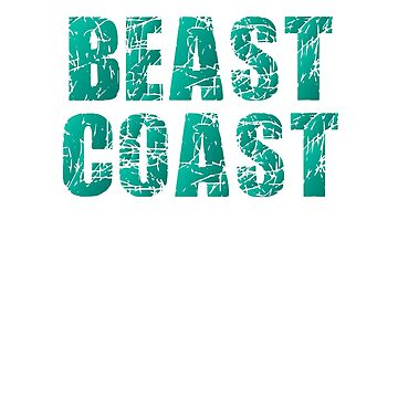 East Coast Beast Coast Scratched Design by KNEI