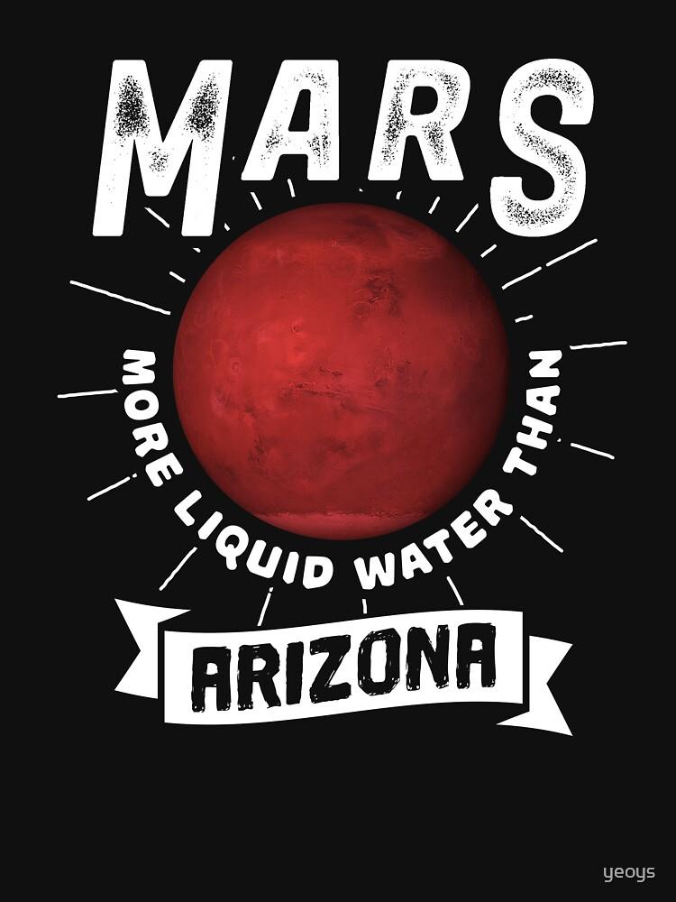 Mars More Liquid Water Than Arizona - Astronomy And Space Gift von yeoys