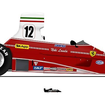 Formula 1 - NIki Lauda - Ferrari 312T by JageOwen