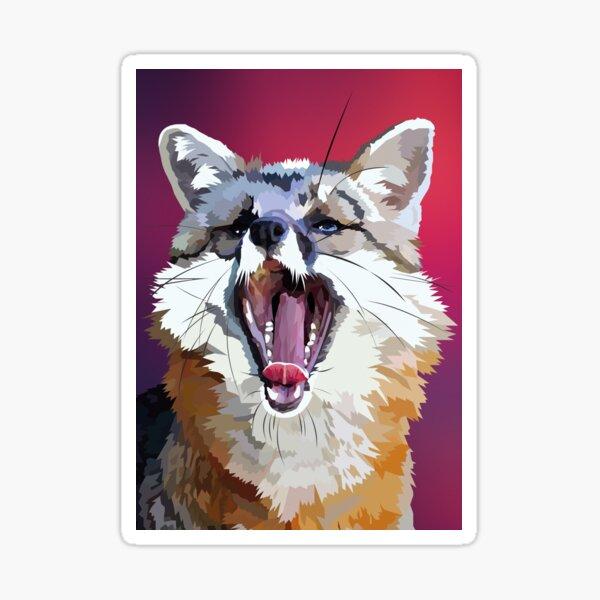 Yawning fox Sticker