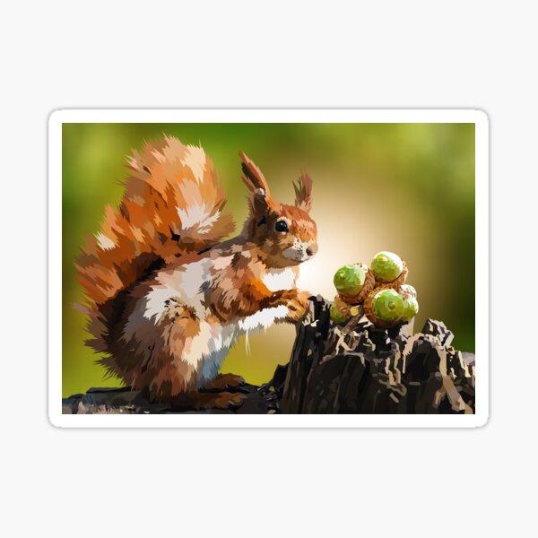It's squirrel time! Sticker