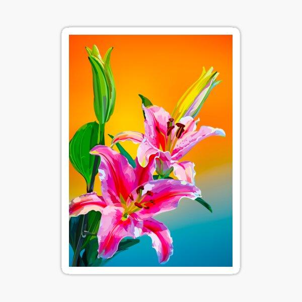 Tropical Floral Fantasy  Sticker