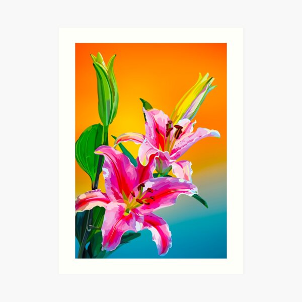 Tropical Floral Fantasy  Art Print