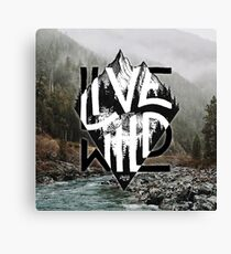 Live Wild Canvas Print