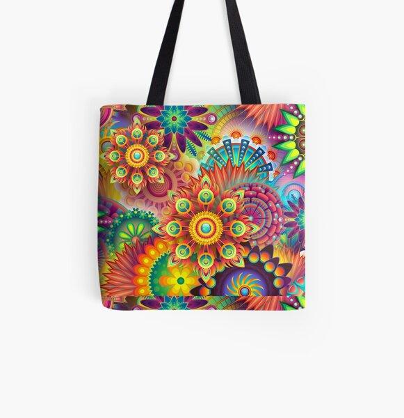 Abstracto colorido Bolsa estampada de tela