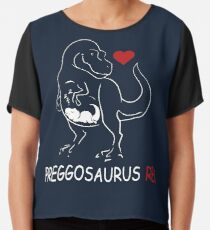 f0b1ab98a41f3 Pregosaurus Preggosaurus Cute Funny Pregnancy Maternity Chiffon Top