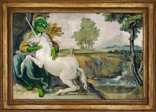 medieval unicorn and girl pepe title the frog domenichino unicorn