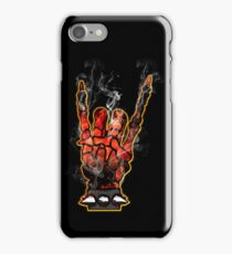 HEAVY METAL HAND SIGN - hellfire iPhone Case/Skin