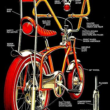 BICYCLES : Vintage 1972 Wild Dragster Bike Advertising Print by posterbobs