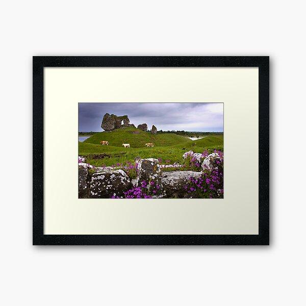 Castle at Clonmacnoise Framed Art Print