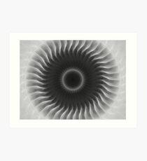 Gray Kaleidoscope Art 3 Art Print