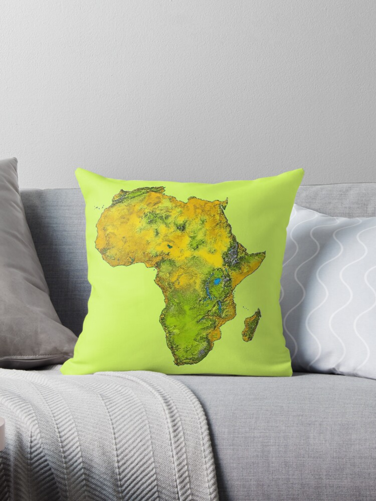 Physischer afrikanischer Kontinent von Havocgirl