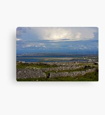 Layers of Stone Canvas Print