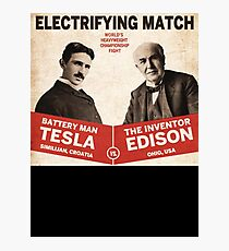 Edison vs Tesla Photographic Print