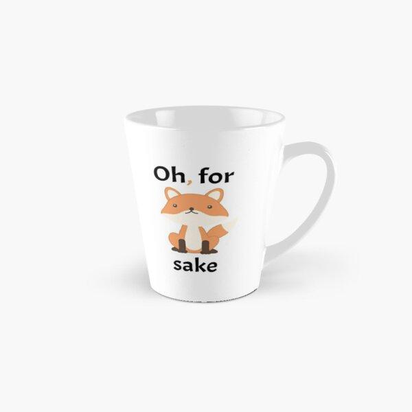 Oh, For Fox Sake - Black Text Tall Mug