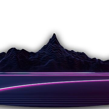 Synthwave Mountains by djentleman5